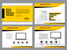 Page layout design template for presentation and brochure , Annual report, flyer page with infographic element. S design Royalty Free Stock Photo