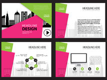 Page layout design template for presentation and brochure , Annual report, flyer page with infographic element Stock Image