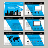Page layout design template for presentation and brochure , Annual report, flyer page with infographic element Royalty Free Stock Photos