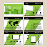 Page layout design template for presentation and brochure , Annual report, flyer page with infographic element Royalty Free Stock Photo