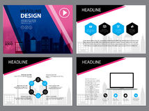 Page layout design template for presentation and brochure , Annual report, flyer page with infographic element Royalty Free Stock Images