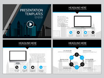 Page layout design template for presentation and brochure , Annual report, flyer page with infographic element Stock Photo