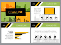 Page layout design template for presentation and brochure , Annual report, flyer page with infographic element Stock Images