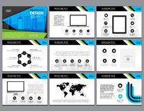 Page layout design template for presentation and brochure , Annual report, flyer page Stock Image