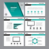 Page layout design template for presentation and brochure , Annual report, flyer page  Royalty Free Stock Images