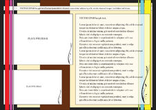 Page layout. Document template web page layout Royalty Free Stock Photo