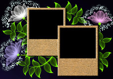 Page layout photo album Royalty Free Stock Photography