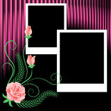 Page layout photo album Royalty Free Stock Image