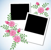 Page layout photo album Stock Photography
