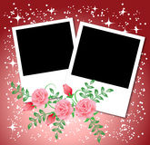 Page layout photo album. With roses Royalty Free Stock Images