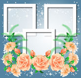 Page layout photo album. With roses Royalty Free Stock Photography