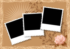 Page layout photo album Stock Photos