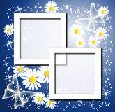 Page layout postcard with flowers Stock Photography