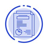 Page, Layout, Report, Presentation Blue Dotted Line Line Icon royalty free illustration
