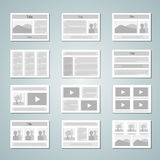 Page layout template set Royalty Free Stock Photo