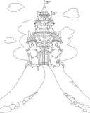 Page magique de coloration de château Photographie stock libre de droits