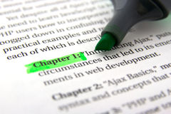Page and marker Stock Photo