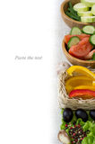 Page menu-vegetables, salads Royalty Free Stock Photography