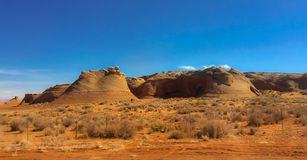 Page Mountains Scenic. Explore desert mountains at Page royalty free stock image