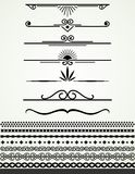 Page nad text dividers and borders, black and white Royalty Free Stock Images