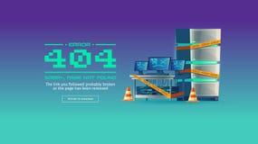 Page non trouvée, bannière de concept de vecteur de 404 erreurs Photos stock