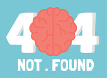 Page not 404  brain error Royalty Free Stock Photo