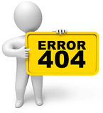 Page not found. Concept 404 error on white background. Page not found. 3d render Royalty Free Stock Images