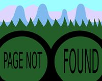 Page not found - binoculars royalty free stock images