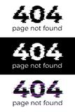 404 page not found concept set. Vector design elements. 404 page not found concept set. Vector design elements Royalty Free Stock Photos