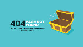 Page not found empty chest illustration Royalty Free Stock Image