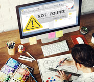 Page Not Found Error Fail Concept. Page Not Found Error Fail  Message Stock Image