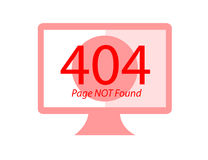 Page Not Found Error 404 Flat illustration. Page Not Found Error 404 Flat vector illustration Stock Photography