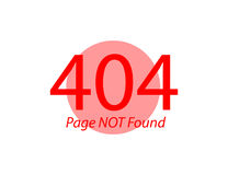 Page Not Found Error 404 Flat illustration. Page Not Found Error 404 Flat vector illustration Royalty Free Stock Image