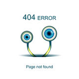Page not found, 404 error. With funny green monster Stock Image