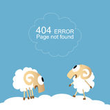 Page not found, 404 error. With funny sheep Stock Images
