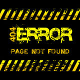Page not found - error - grunge style yellow caution tapes illustration Royalty Free Stock Image