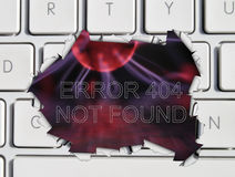 Page not found error message Stock Photos