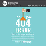 Page Not Found Error 404. royalty free illustration