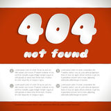 Page not found, 404 error. Stock Photography