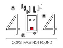 Page not found , Error 404 - vector illustration. Stock Photos