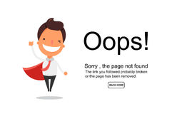 Page Not Found Error 404.Vector template.  Royalty Free Stock Photo