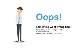 Page Not Found Error 404.Vector template. Page Not Found Error 404.Vector template Stock Images