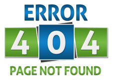 Page Not Found Green Blue Square Royalty Free Stock Photos