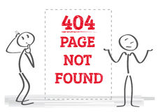404 page not found - Illustration. Vector illustration error page not found Stock Images