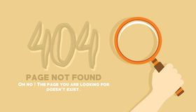 Page not found looking in the sand illustration Stock Photography