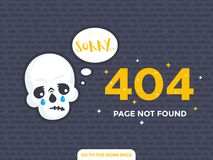 404 page not found page design. Eps 10 file, easy to edit Stock Image