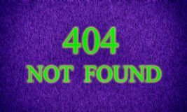 Page not found, server error 404. Web site unavailable stock image