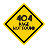 Page not found sign Stock Photography