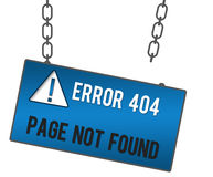 Page Not Found Signboard Royalty Free Stock Photo