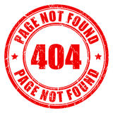 404 page not found stamp Royalty Free Stock Photos